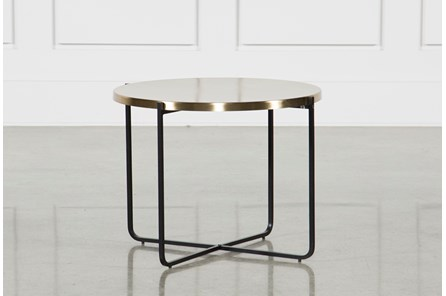 Brass Metal Side Table - Main