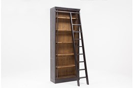"Barton 103"" Bookcase With Ladder"