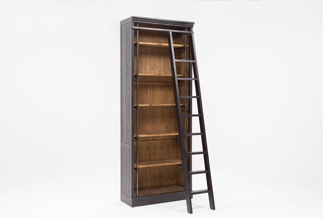 Barton Bookcase With Ladder - 360