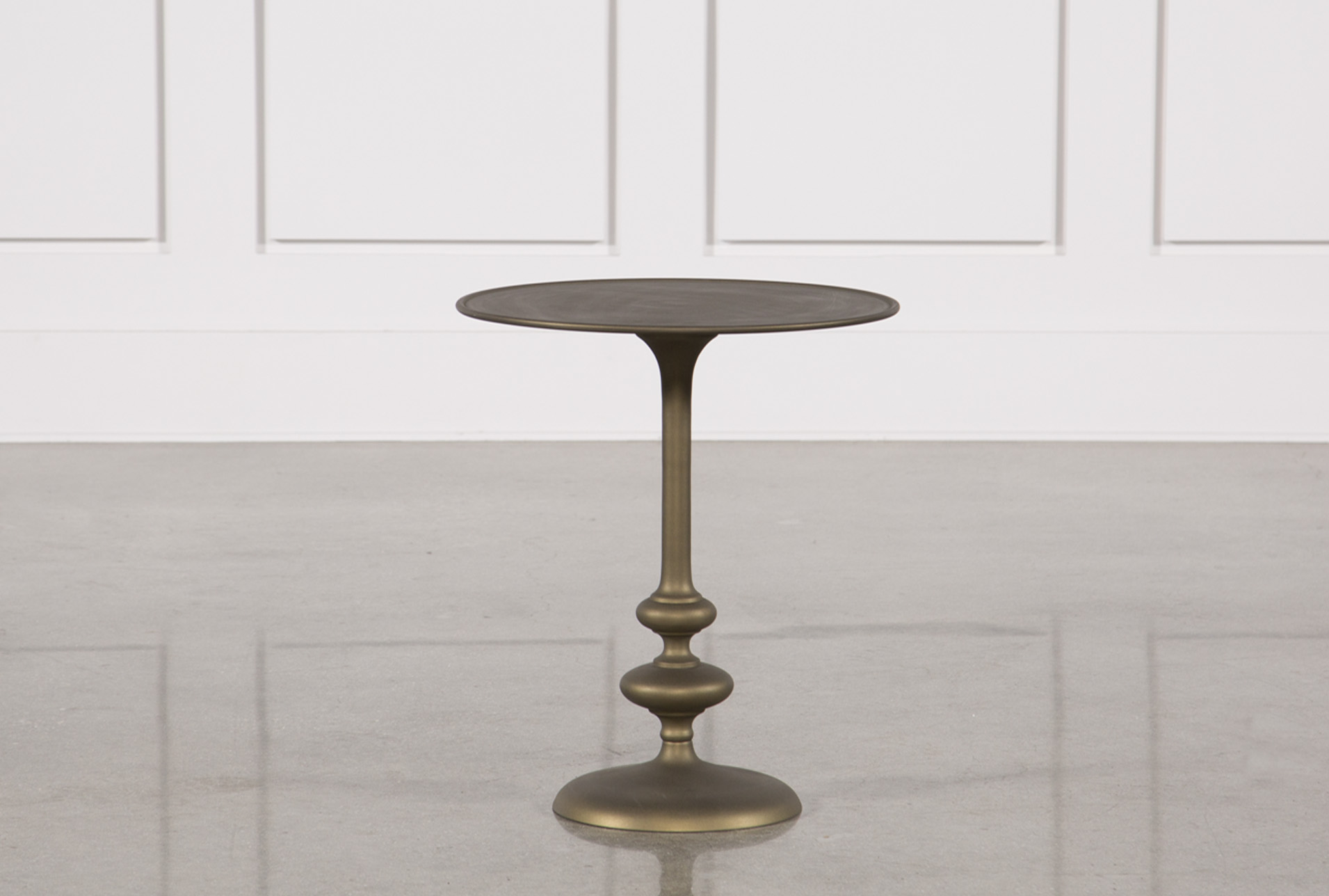 - Lily Pedestal Accent Table Living Spaces