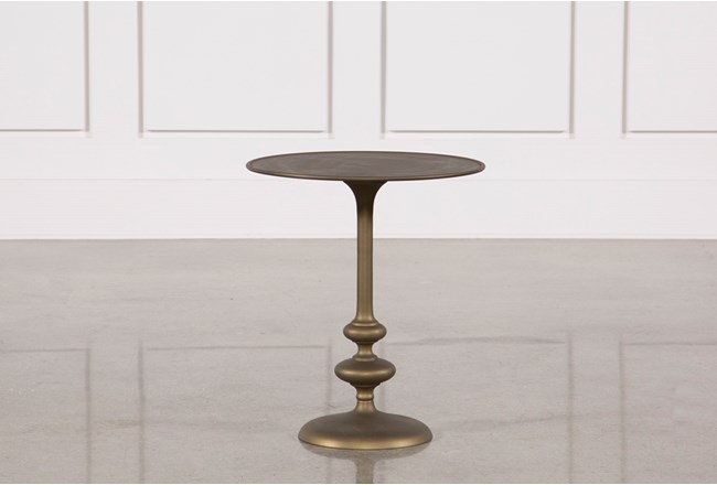 Lily Pedestal Accent Table - 360