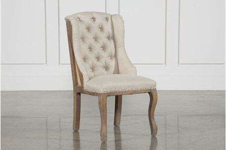 Beige Tufted Side Chair