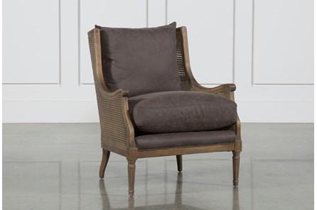Charcoal & Cane Detail Club Chair - Main