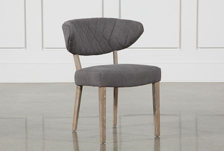 Grey Diamond Tuft Side Chair