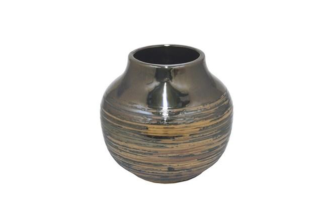 8 Inch Chestnut Ceramic Vase - 360