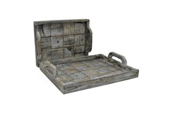 2 Piece Set Slate Wood Trays