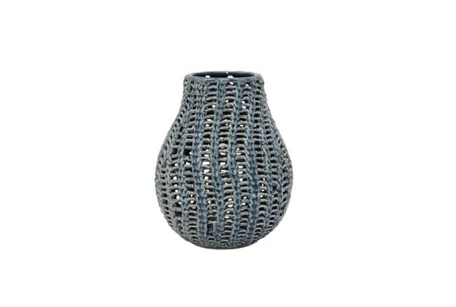 10 Inch Cobalt Vase - 360
