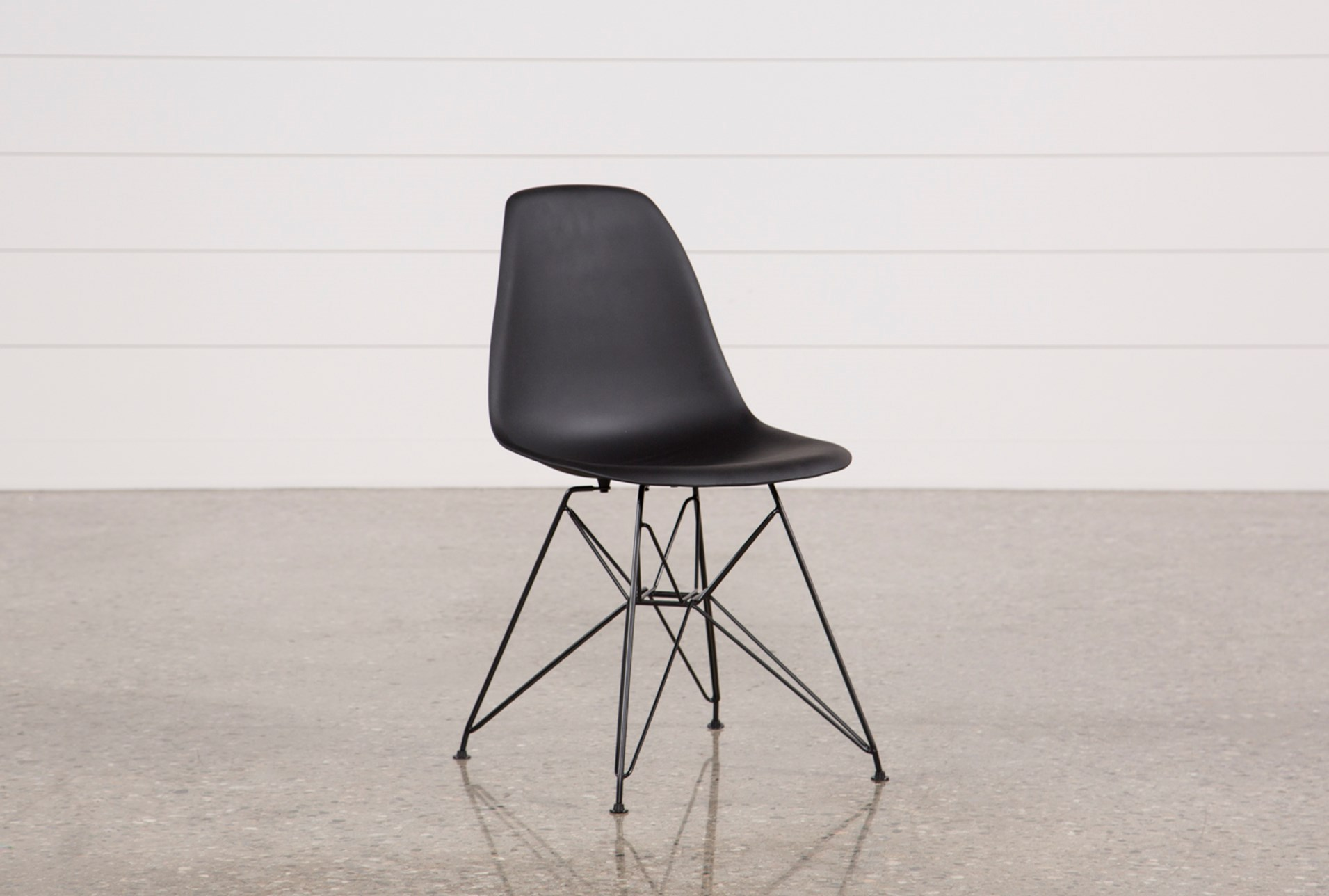 black side chair. added to cart. alexa black side chair