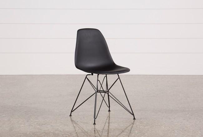 Alexa Black Side Chair - 360