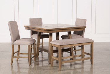 Hyland 5 Piece Counter Set With Bench