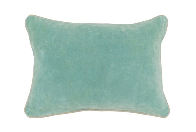Accent Pillow-Robins Egg Washed Velvet 20X14 - 360