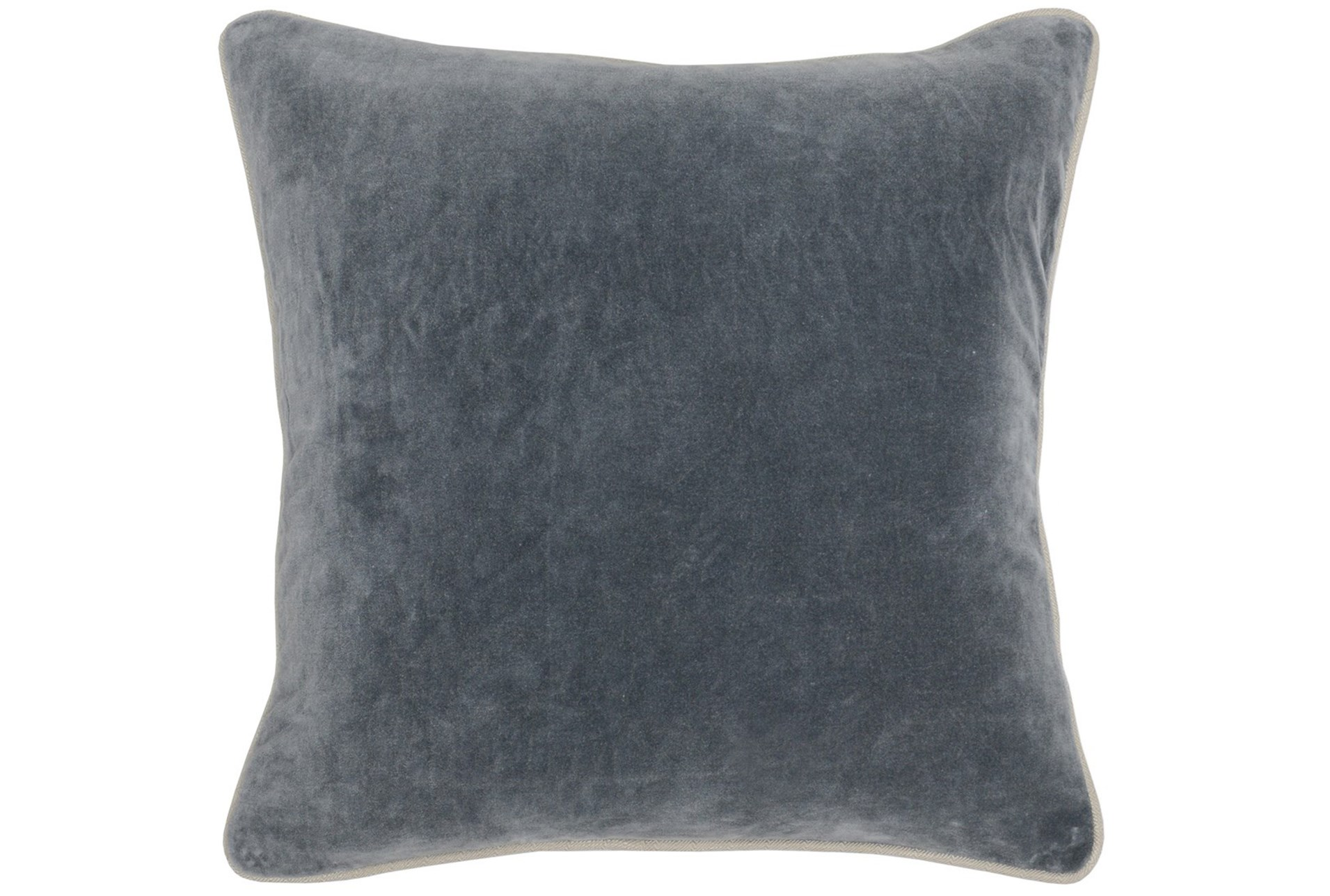 Accent Pillow Steel Grey Washed Velvet 18x18 Living Spaces