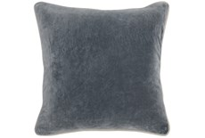 Accent Pillow-Steel Grey Washed Velvet 18X18