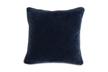 18X18 Navy Blue Stonewashed Velvet Throw Pillow
