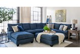 Accent Pillow-Navy Blue Washed Velvet 18X18 - Room