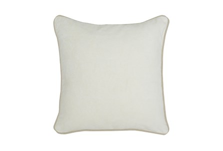 Accent Pillow-Ivory Washed Velvet 18X18