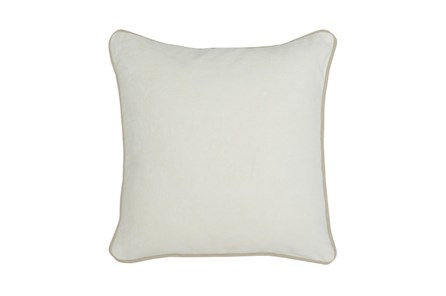Accent Pillow-Ivory Washed Velvet 18X18 - Main