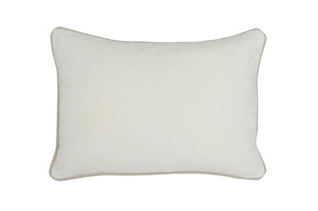 Accent Pillow-Ivory Washed Velvet 20X14 - Main