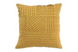 Accent Pillow-Mustard Patchwork 18X18