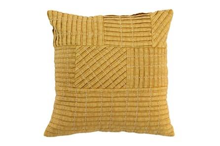 Accent Pillow-Mustard Patchwork 18X18 - Main
