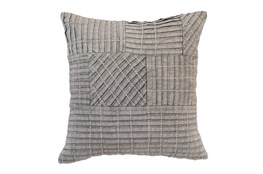 Accent Pillow-Grey Patchwork 18X18