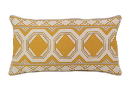 Accent Pillow-Mustard Tiles 26X14