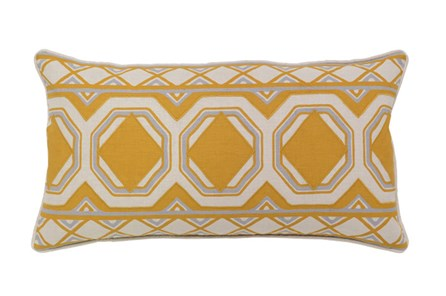 Accent Pillow-Mustard Tiles 26X14 - Main