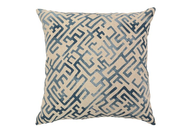 Accent Pillow-Indigo Labyrinth 22X22 - 360
