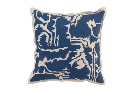 Accent Pillow-Ink Blue Clouds 18X18