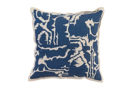 Accent Pillow-Ink Blue Clouds 18X18 - Main