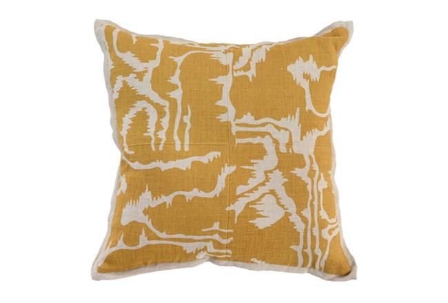 Accent Pillow-Mustard Clouds 18X18 - 360