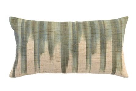 Accent Pillow-Aqua Dip Dye  26X14