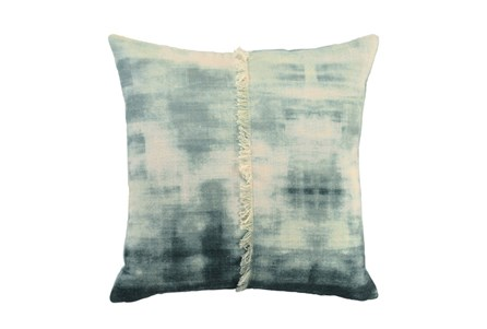 Accent Pillow-Aqua Tie Dye With Fringe 18X18