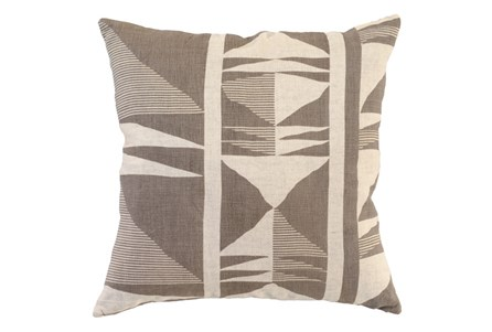 Accent Pillow-Taupe Western Tribal 22X22