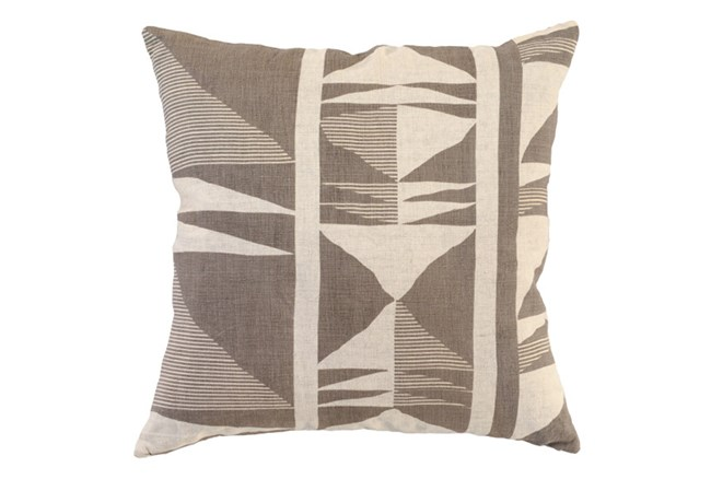 Accent Pillow-Taupe Western Tribal 22X22 - 360