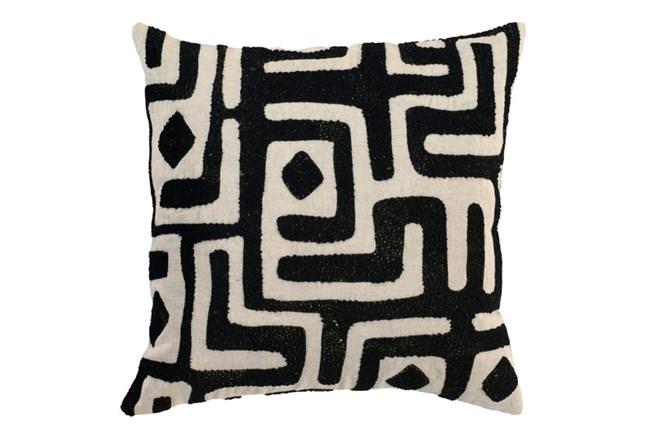Accent Pillow-Black Batik Maze 18X18 - 360