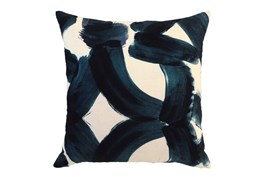 Accent Pillow-Indigo Brushstrokes 22X22