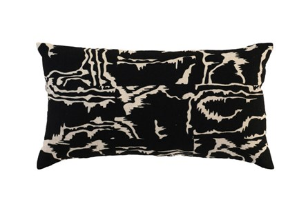 Accent Pillow-Karmiol Black  26X14 - Main