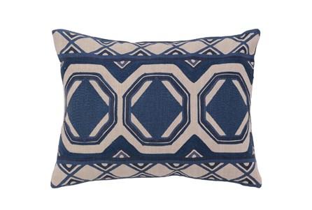 Accent Pillow-Ink Blue Tiles 12X16