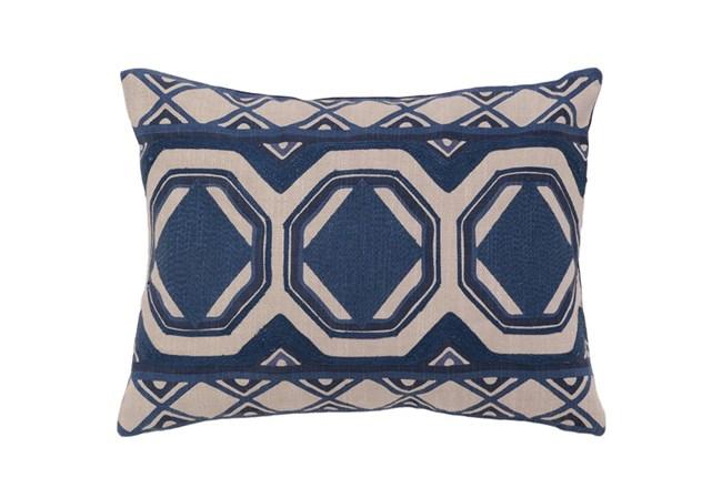 Accent Pillow-Ink Blue Tiles 12X16 - 360
