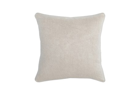 Accent Pillow-Natural Distressed Canvas 20X20 - Main