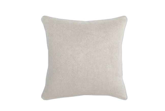 Accent Pillow-Natural Distressed Canvas 20X20 - 360