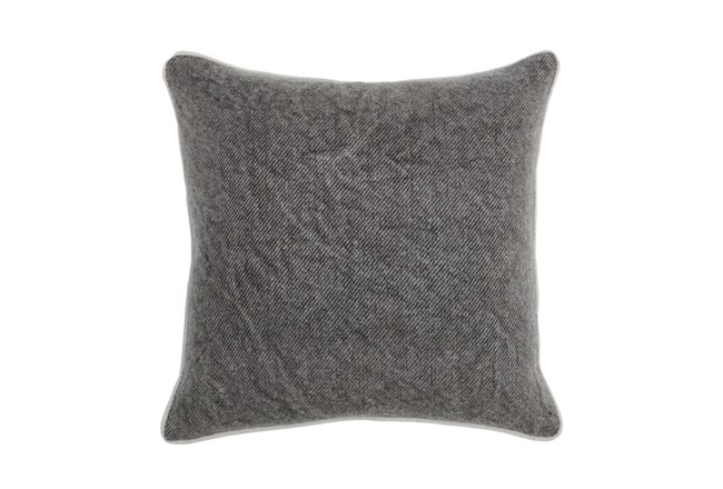 Accent Pillow-Chocolate Distressed Canvas 20X20 - 360