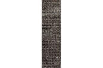 27X96 Rug-Maralina Pattern Charcoal