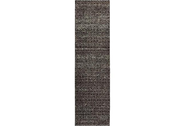 27X96 Rug-Maralina Pattern Charcoal - 360