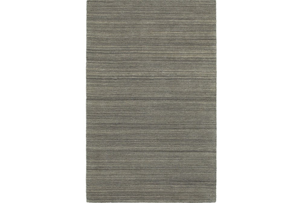"3'5""x5'5"" Rug-Karina Charcoal Wool Stripe"