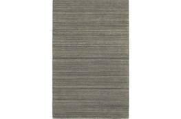 42X66 Rug-Karina Charcoal Wool Stripe