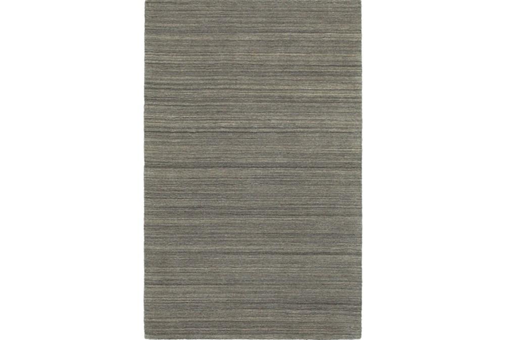 5'x8' Rug-Karina Charcoal Wool Stripe