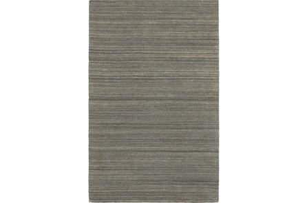 60X96 Rug-Karina Charcoal Wool Stripe