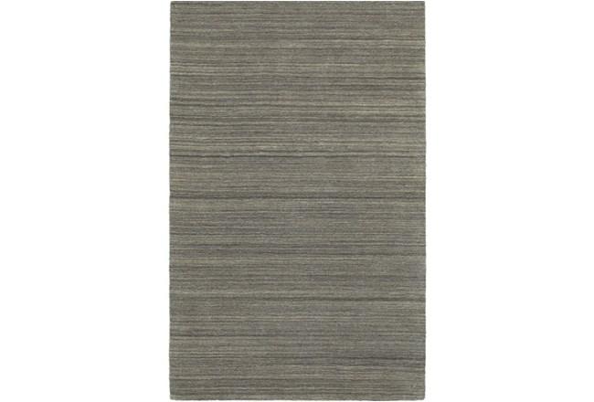 5'x8' Rug-Karina Charcoal Wool Stripe - 360
